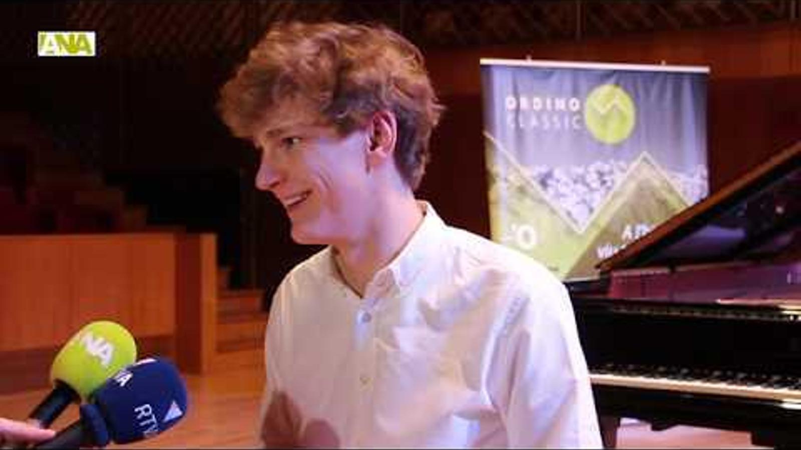 Imatges del concert del pianista Jan Lisiecki a l'Auditori Nacional d'Andorra