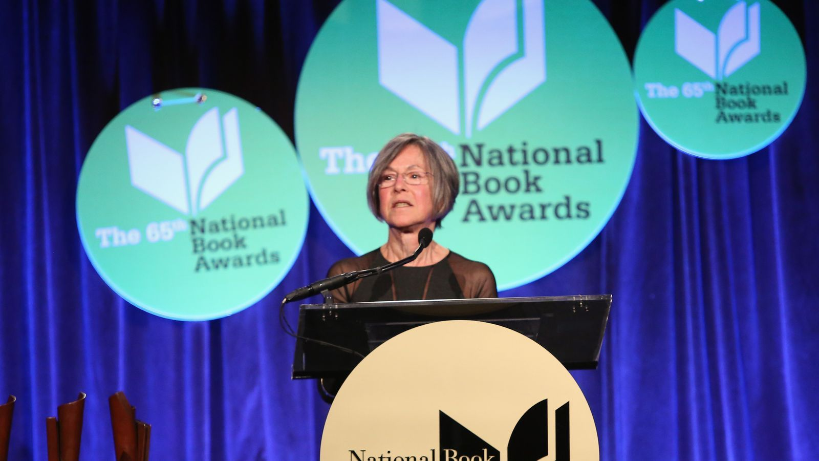 Louise Gluck assisteix als National Book Awards 2014 el novembre de 2014 a  Nova York.