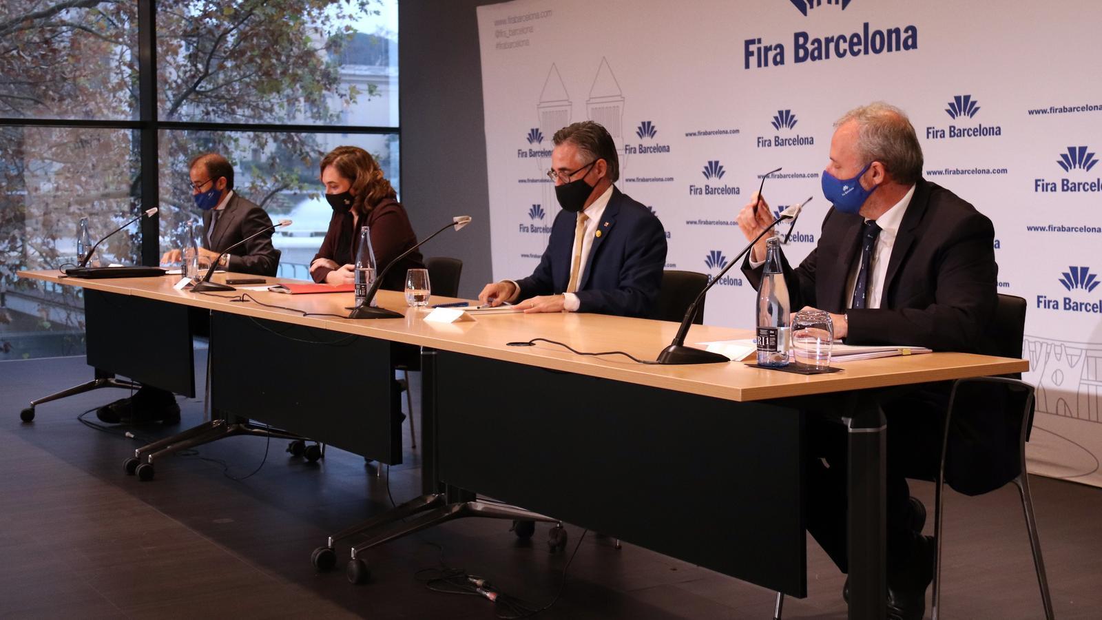 Imatge de la roda de premsa després del consell general de la Fira.