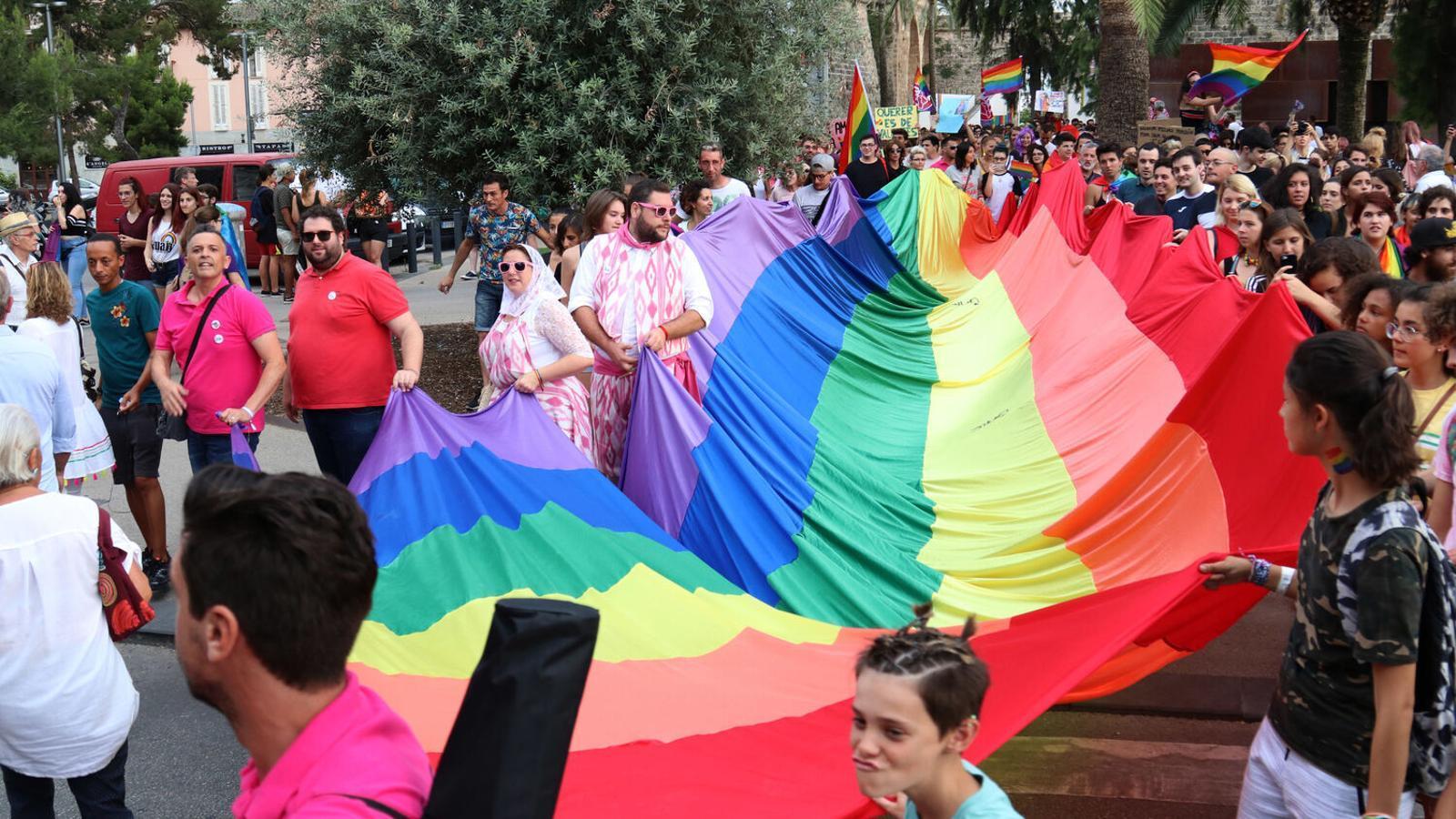 Una de les manifestacions per l'Orgull LGTBI que s'han fet a Palma