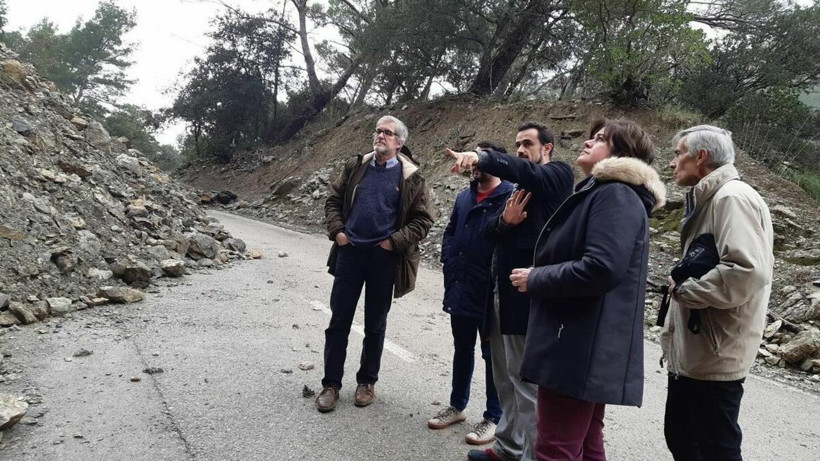 Ivan Sevillano, durant la visita a la carretera entre Orient i Alaró.