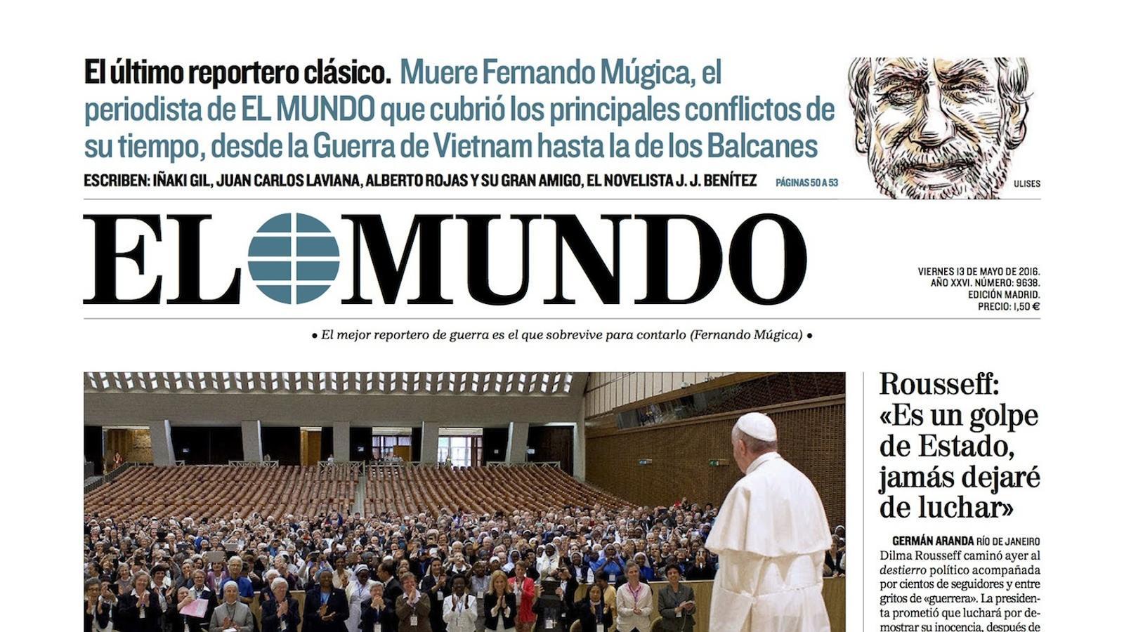 Portada d''El Mundo'