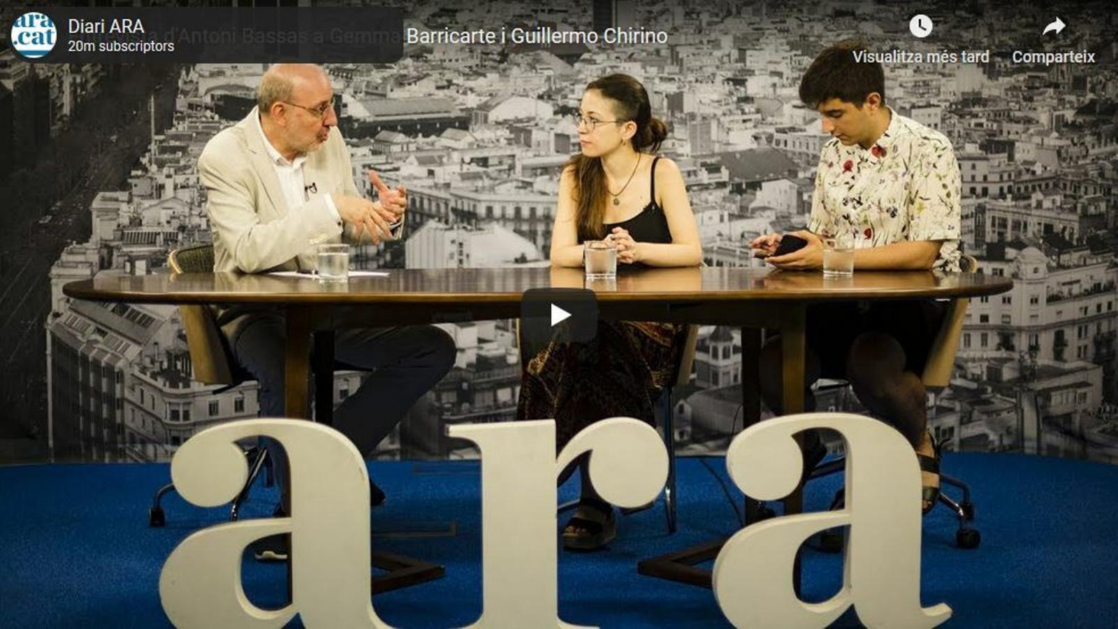 Entrevista d'Antoni Bassas a Gemma Barricarte i Guillermo Chirino de Fridays for Future