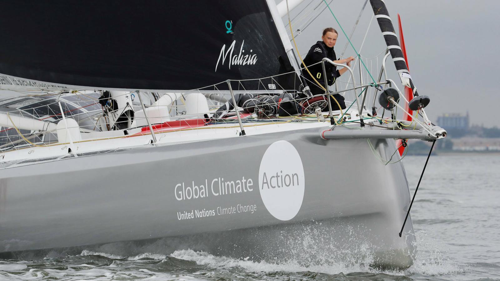 El viatge de Greta Thunberg en vaixell a Nova York tampoc és sostenible