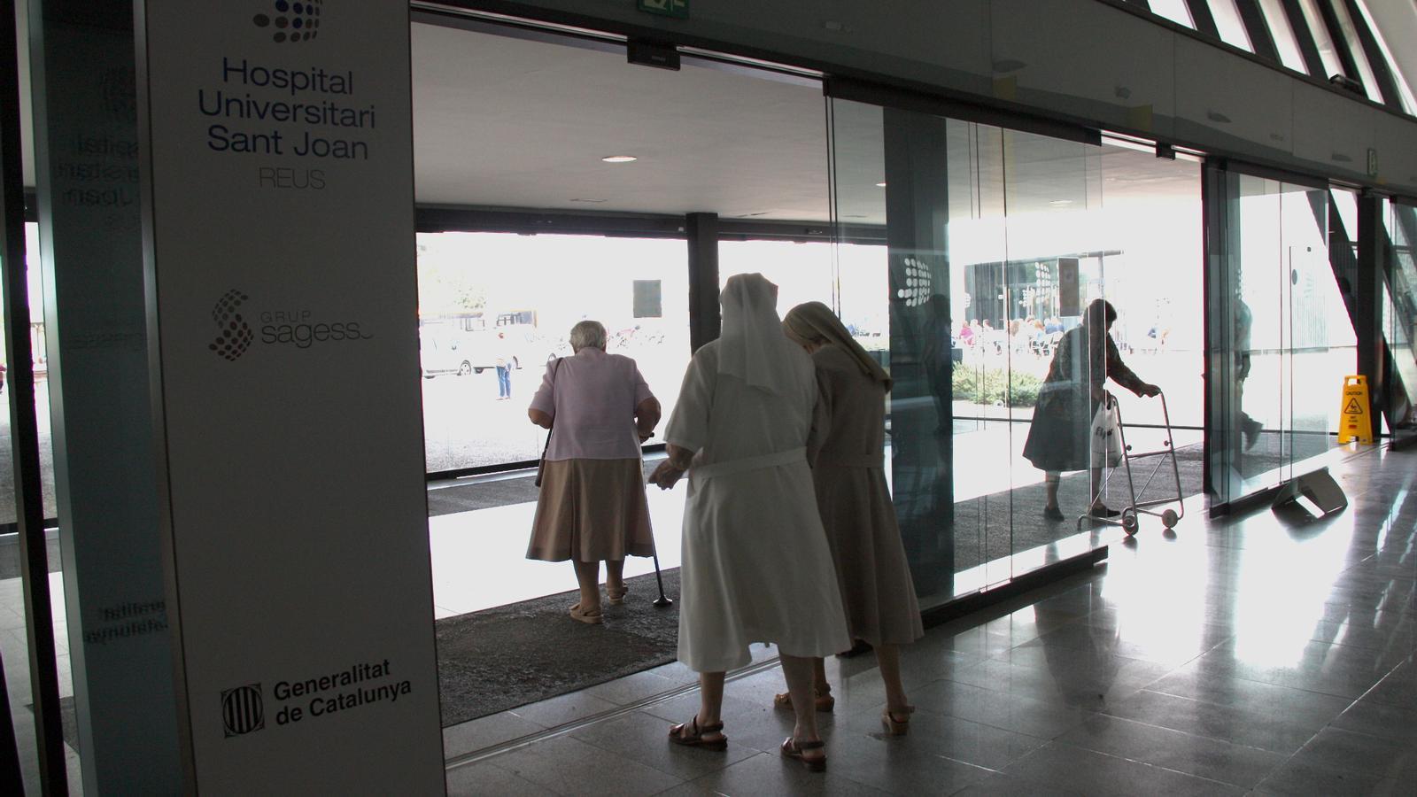 L'entrada de l'Hospital de Reus / ACN