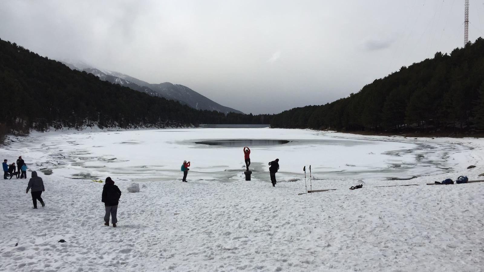 L'hivern a l'estany d'Engolasters. / A. G.