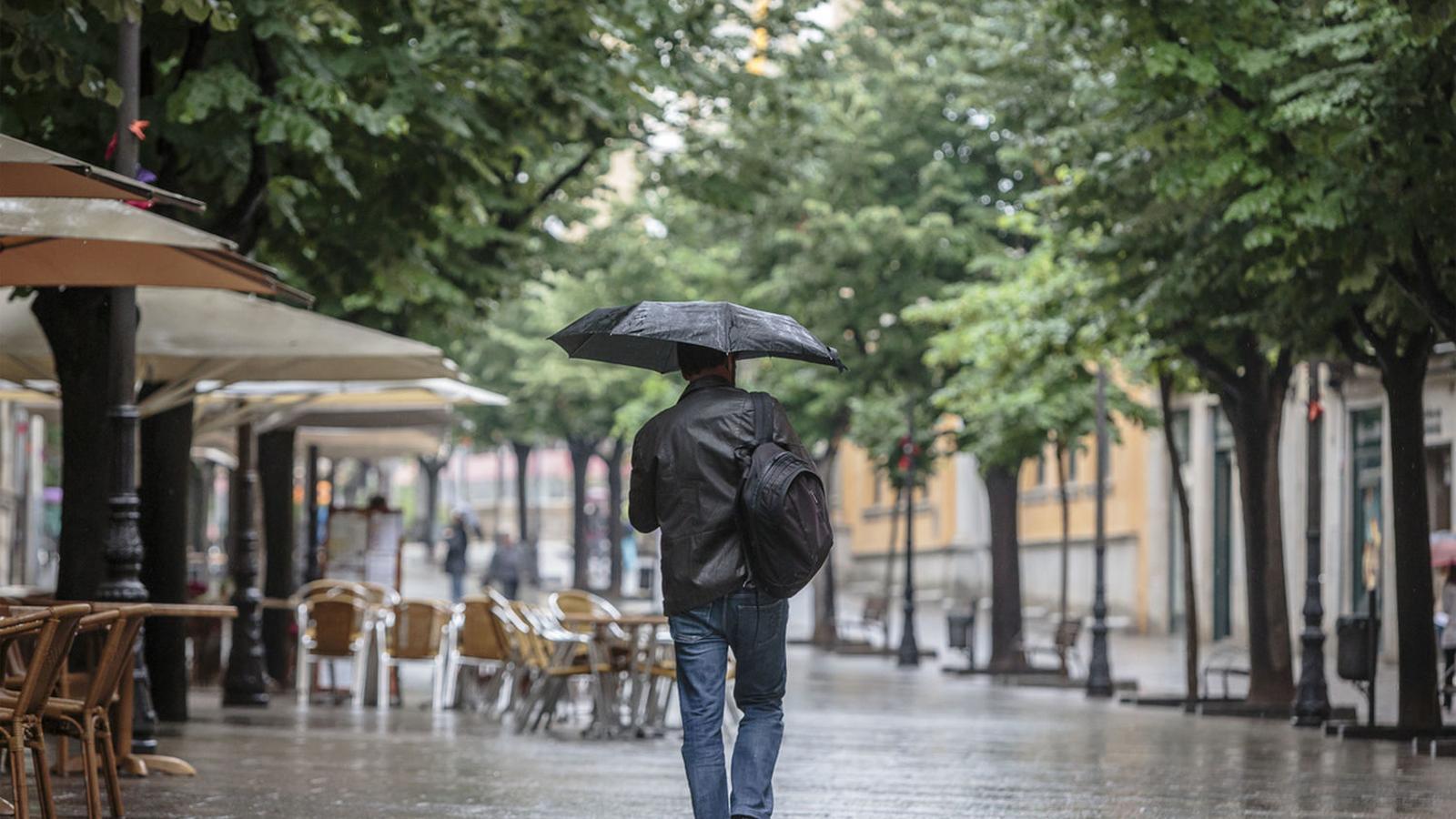 Continues les pluges a les Balears