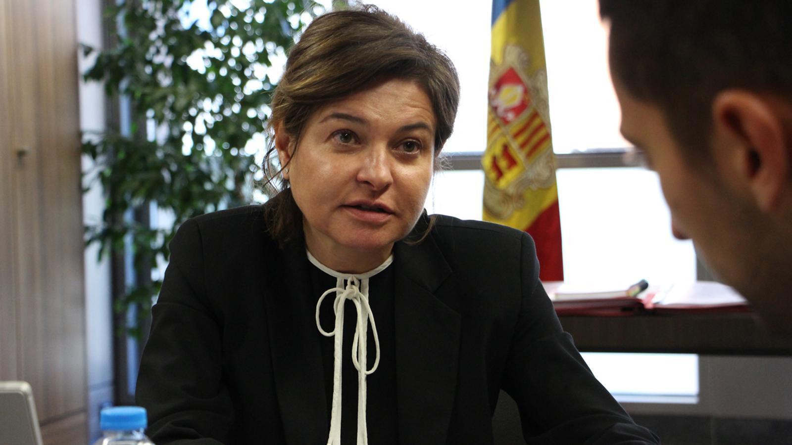 La ministra de Turisme, Verònica Canals. / ARA ANDORRA