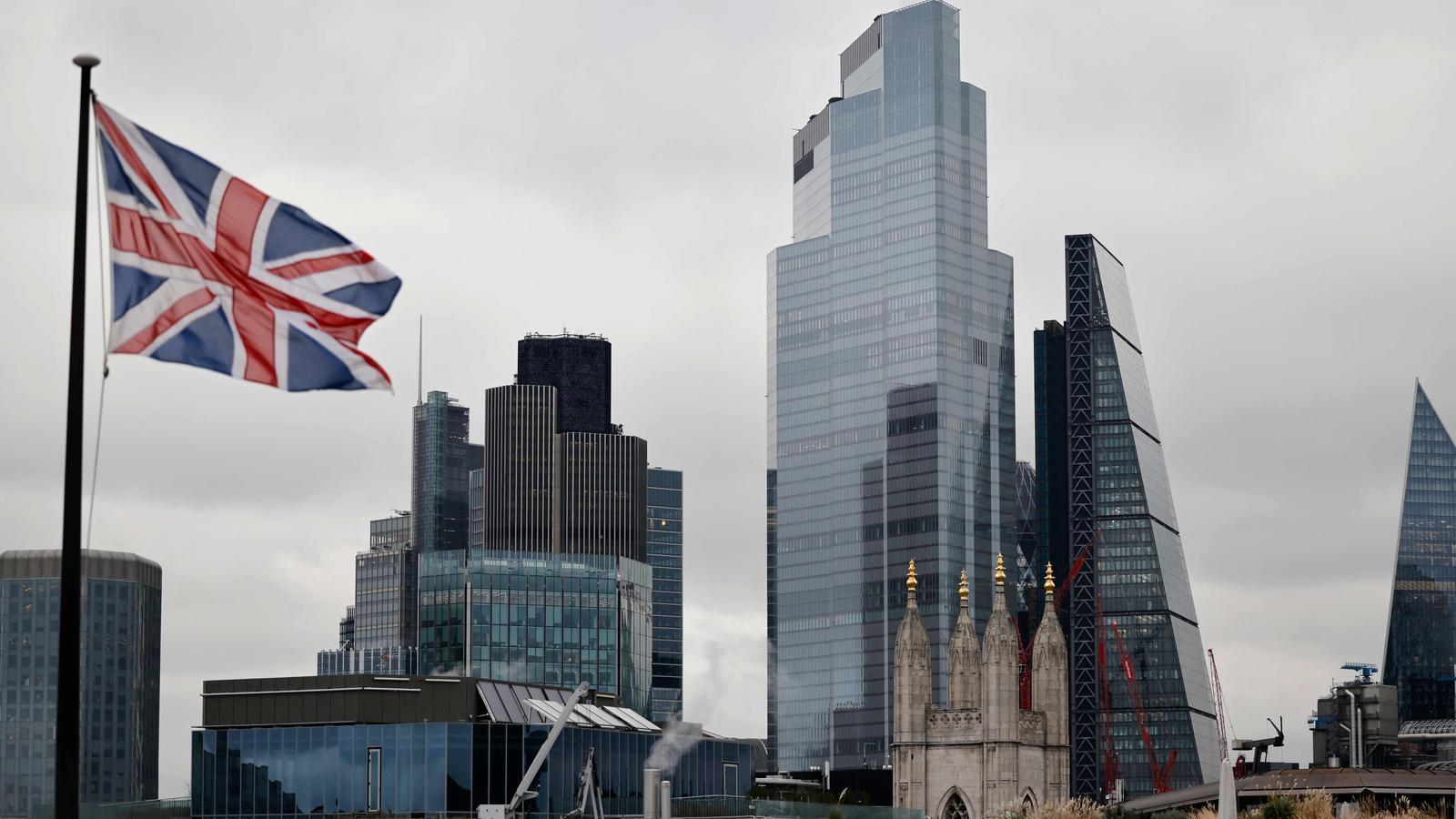 Una icònica imatge de la City, el gran centre financer de Londres, ara sota mínims a causa del covid-19