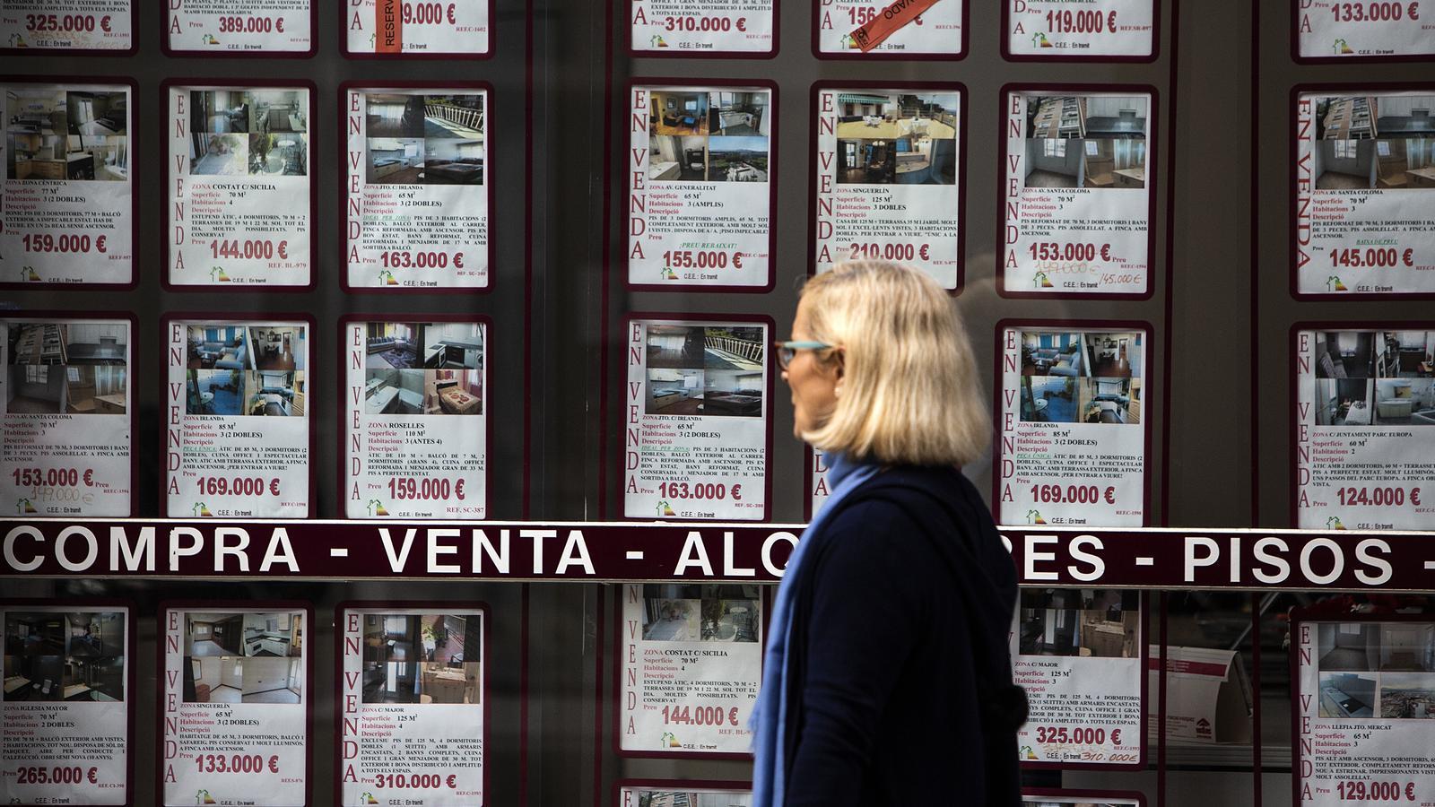 La venda d'habitatges va baixar un 1,3% el tercer trimestre.