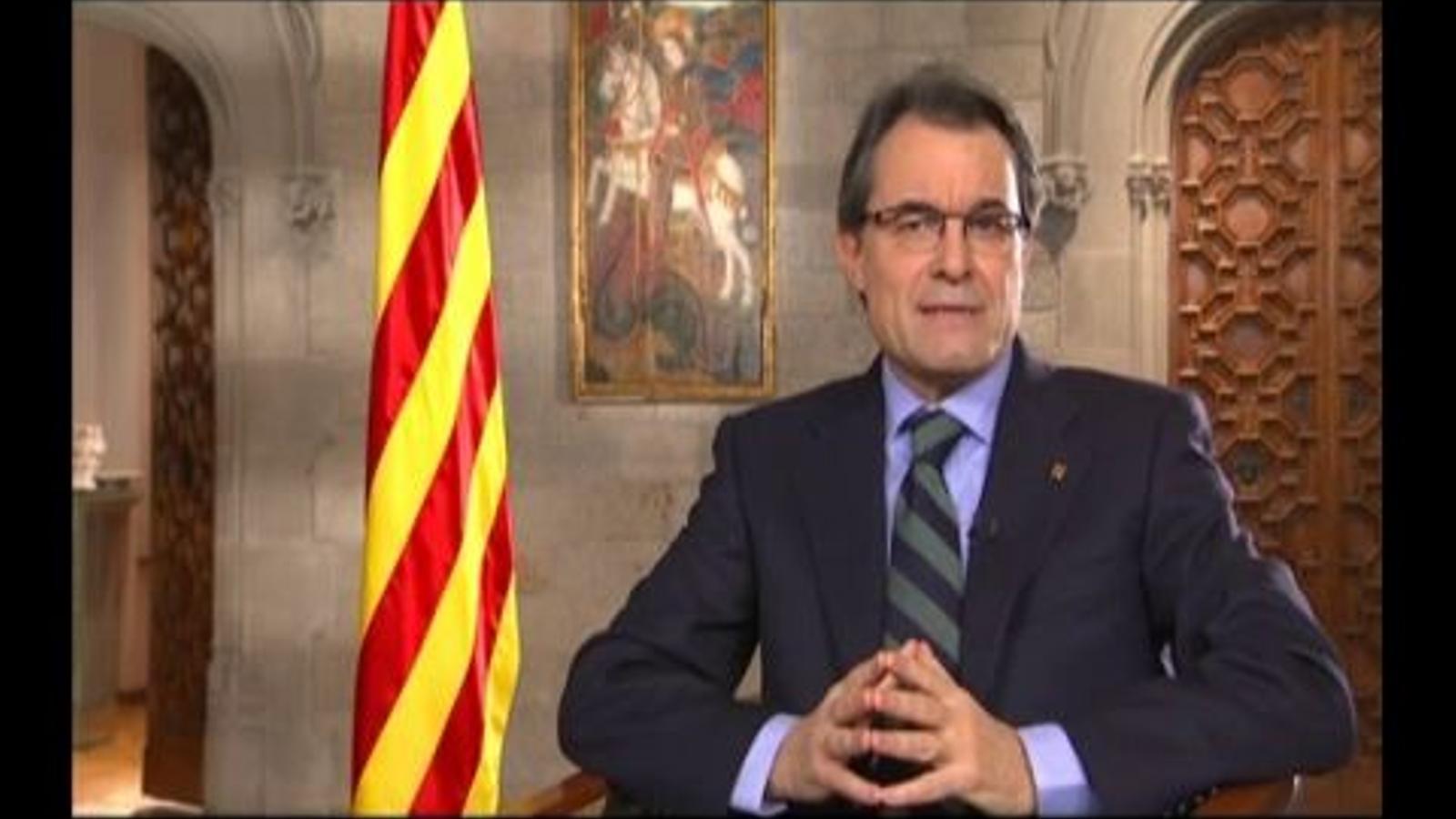 Discurs de Cap d'Any del President de la Generalitat, Artur Mas