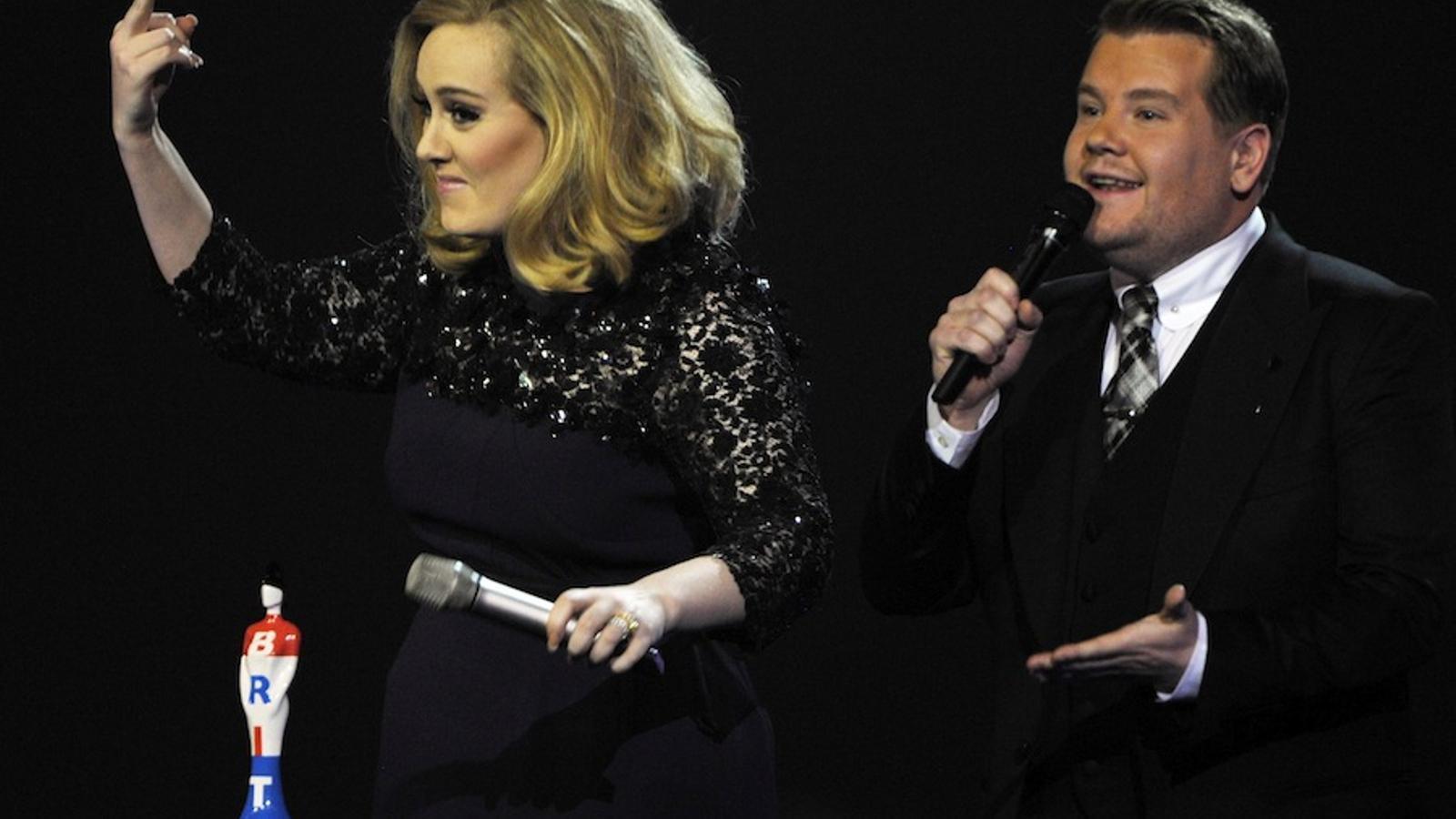 Adele s'enfada als Brit Awards perquè li tallen el discurs