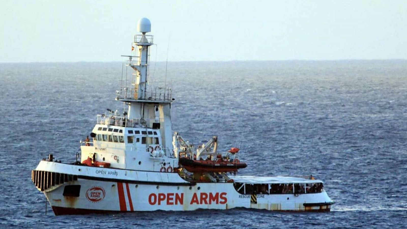 L''Open Arms', en una missió de rescat