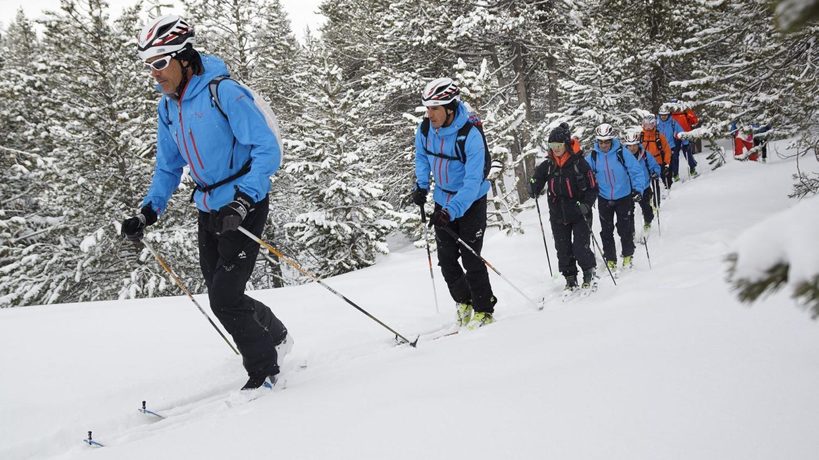 Usuaris practicant esquí de muntanya a Grandvalira / ANA