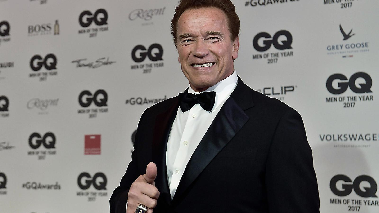 Arnold Schwarzenegger,  operat a cor obert