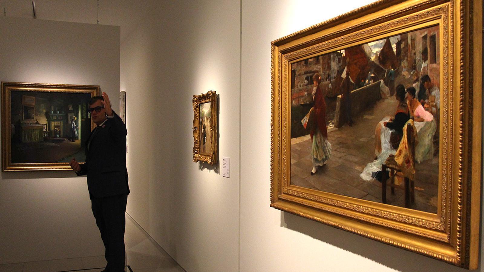 Un quadre de la nova exposició al Museu Carmen Thyssen Andorra. / M. F. (ANA)