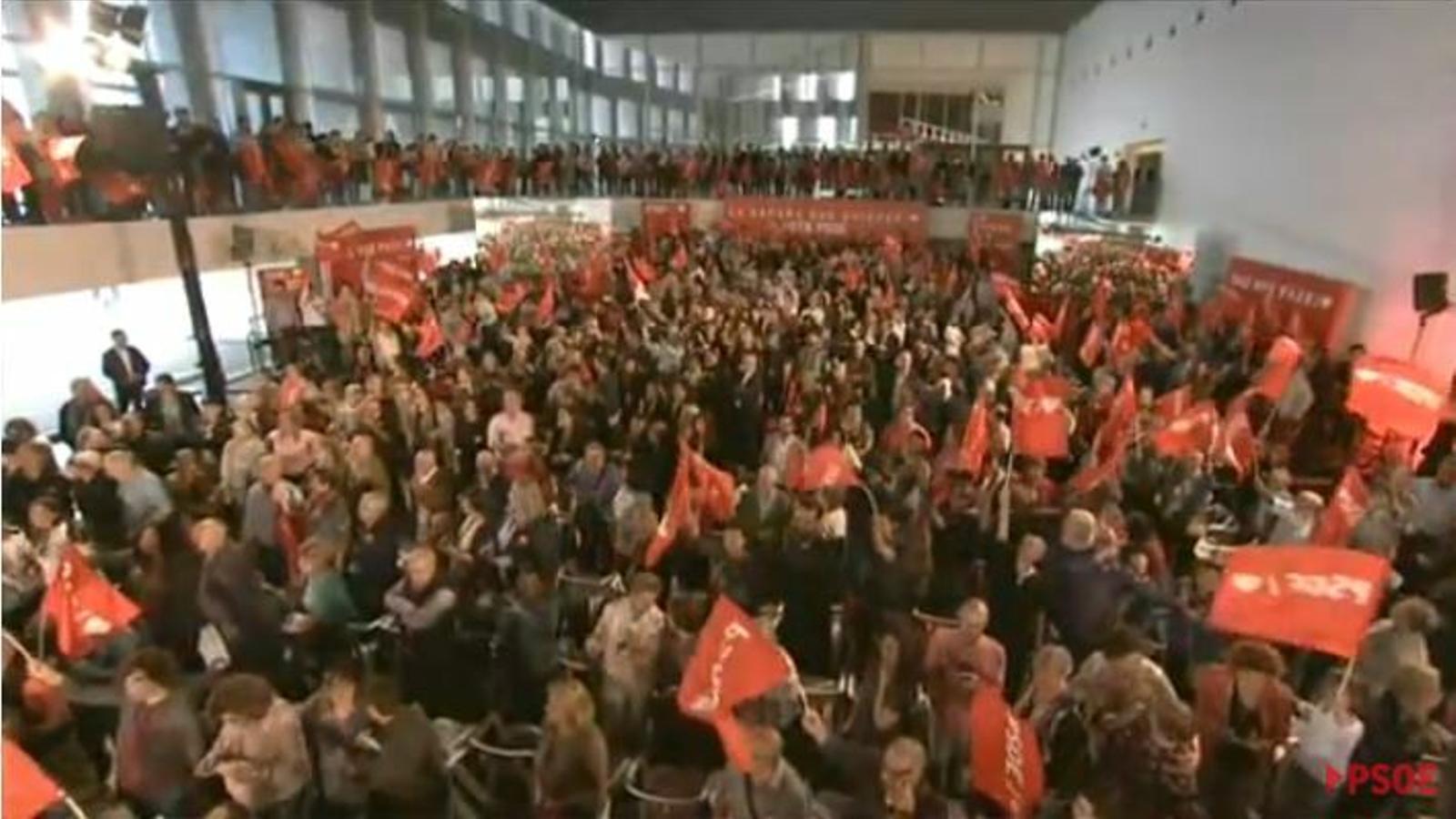 Pedro Sánchez protagonitza l'acte central  de campanya del PSIB-PSOE al Palau de Congressos