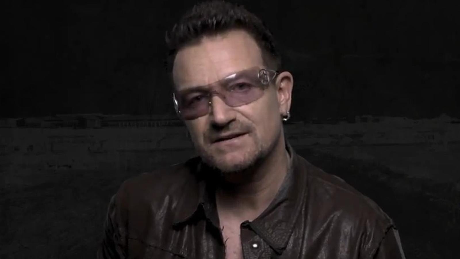 Veten l'emissió televisiva d'un anunci de Bono contra la fam a l'Àfrica, per suposat caràcter polític