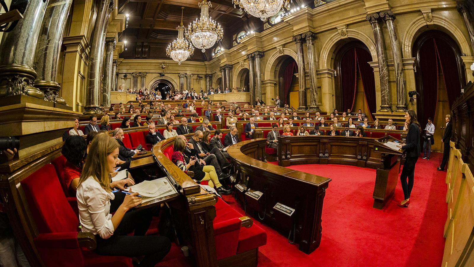 L'hemicicle del Parlament en una imatge d'arxiu