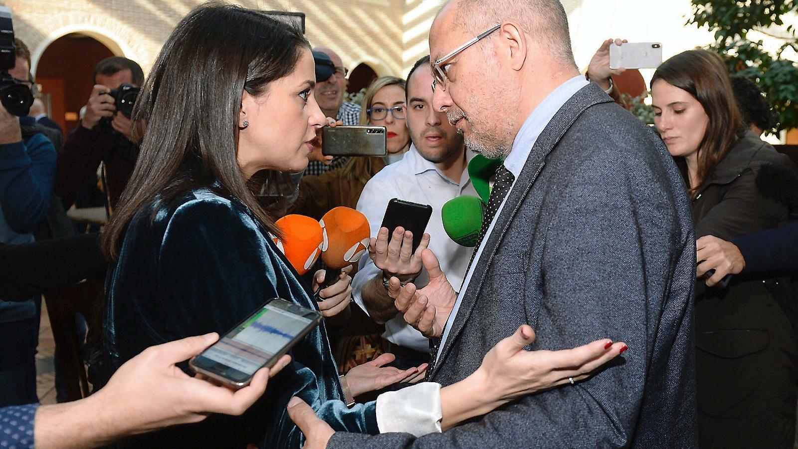 Inés Arrimadas i Francisco Igea, dilluns passat a Valladolid.