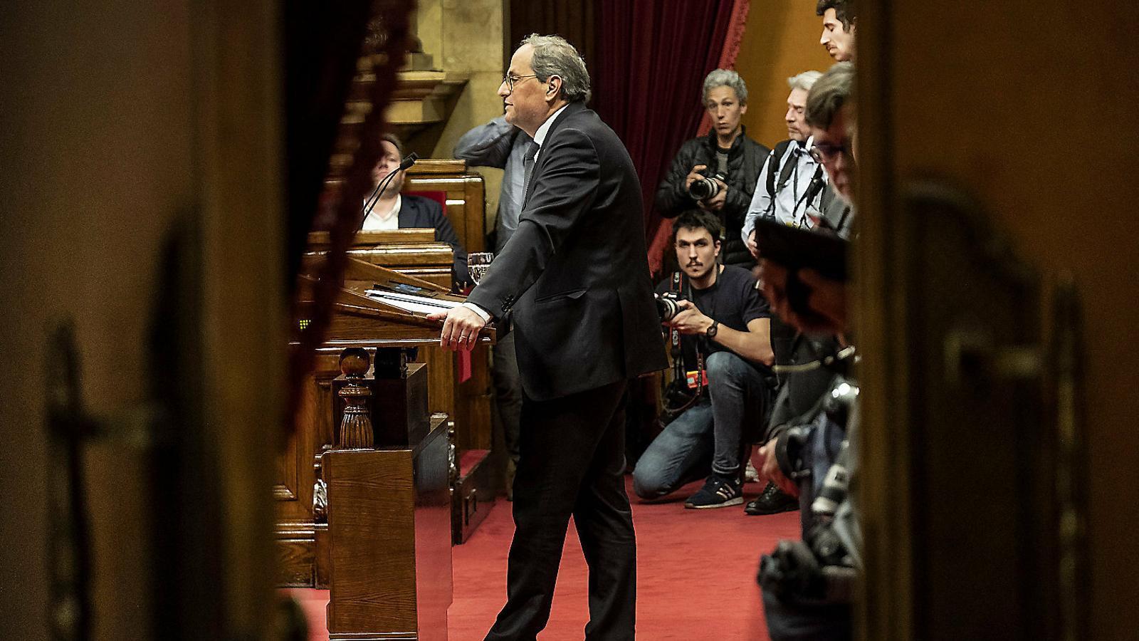 La mesa del Parlament ratifica Torra com a diputat amb l'aval del PSC