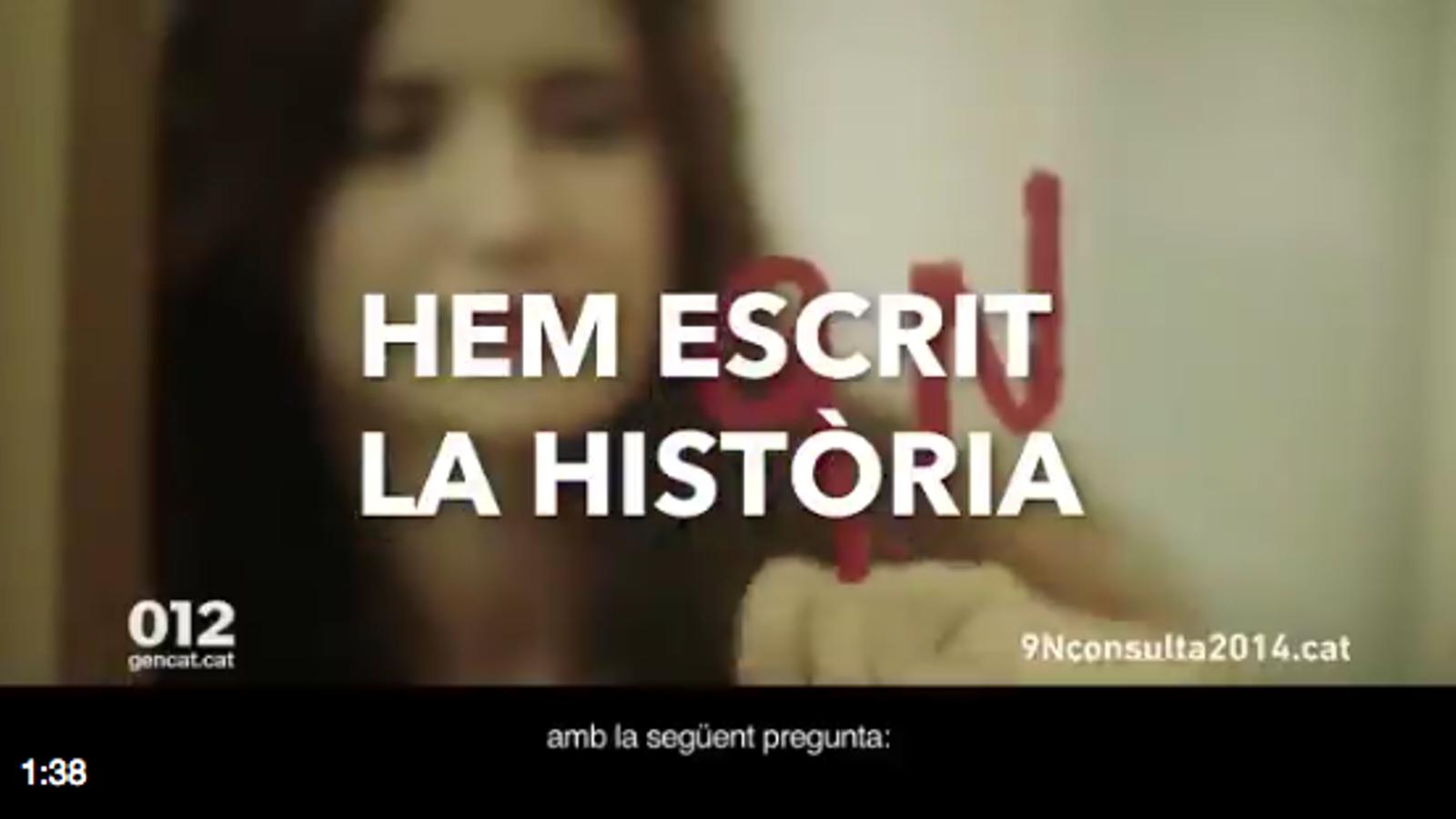 """""""Ha arribat el dia"""", el vídeo de l'ANC hores abans de la compareixença de Puigdemont"""