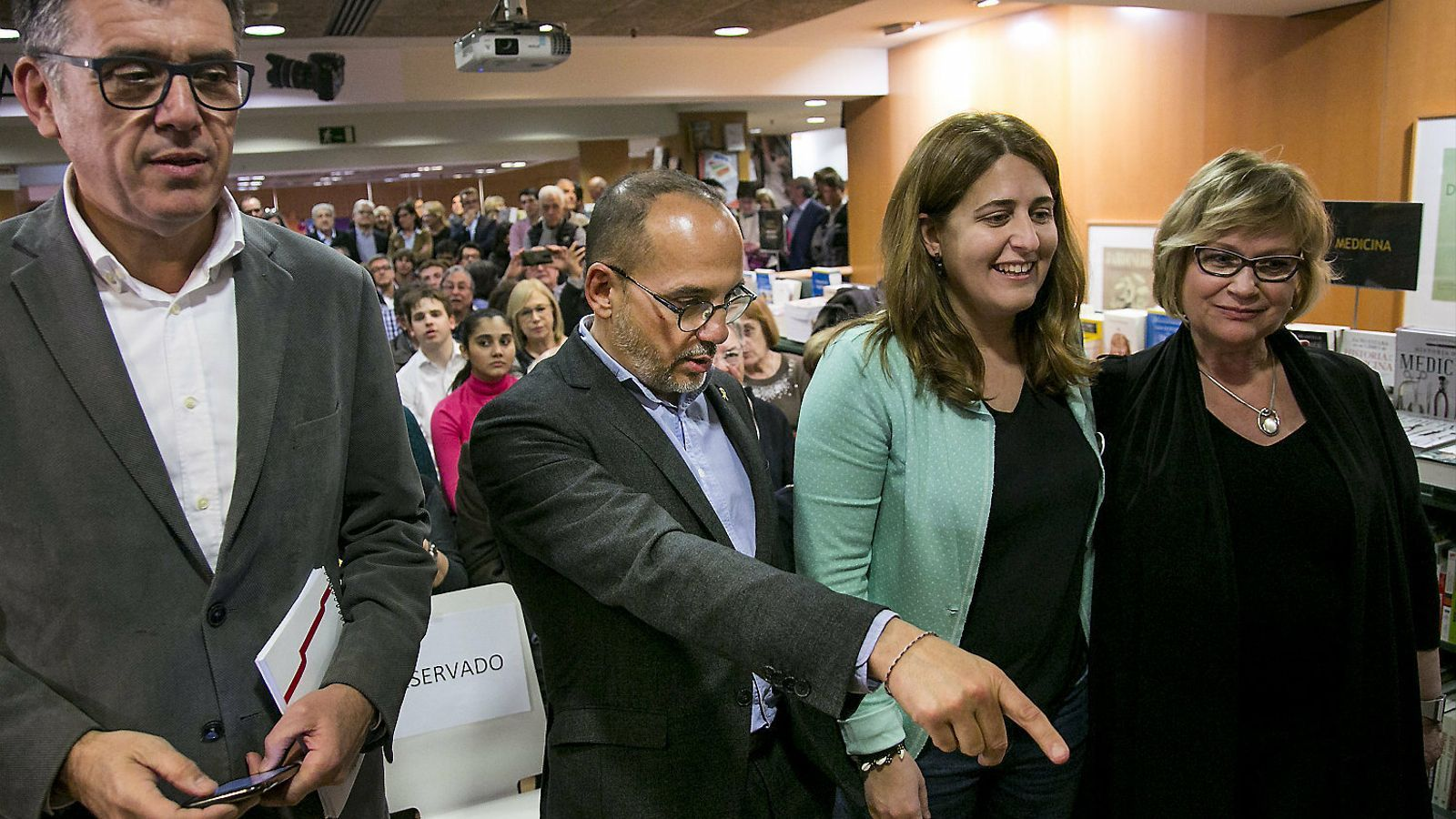 Lluís Recoder, Carles Campuzano, Marta Pascal i Esperança Esteve en una imatge d'arxiu.