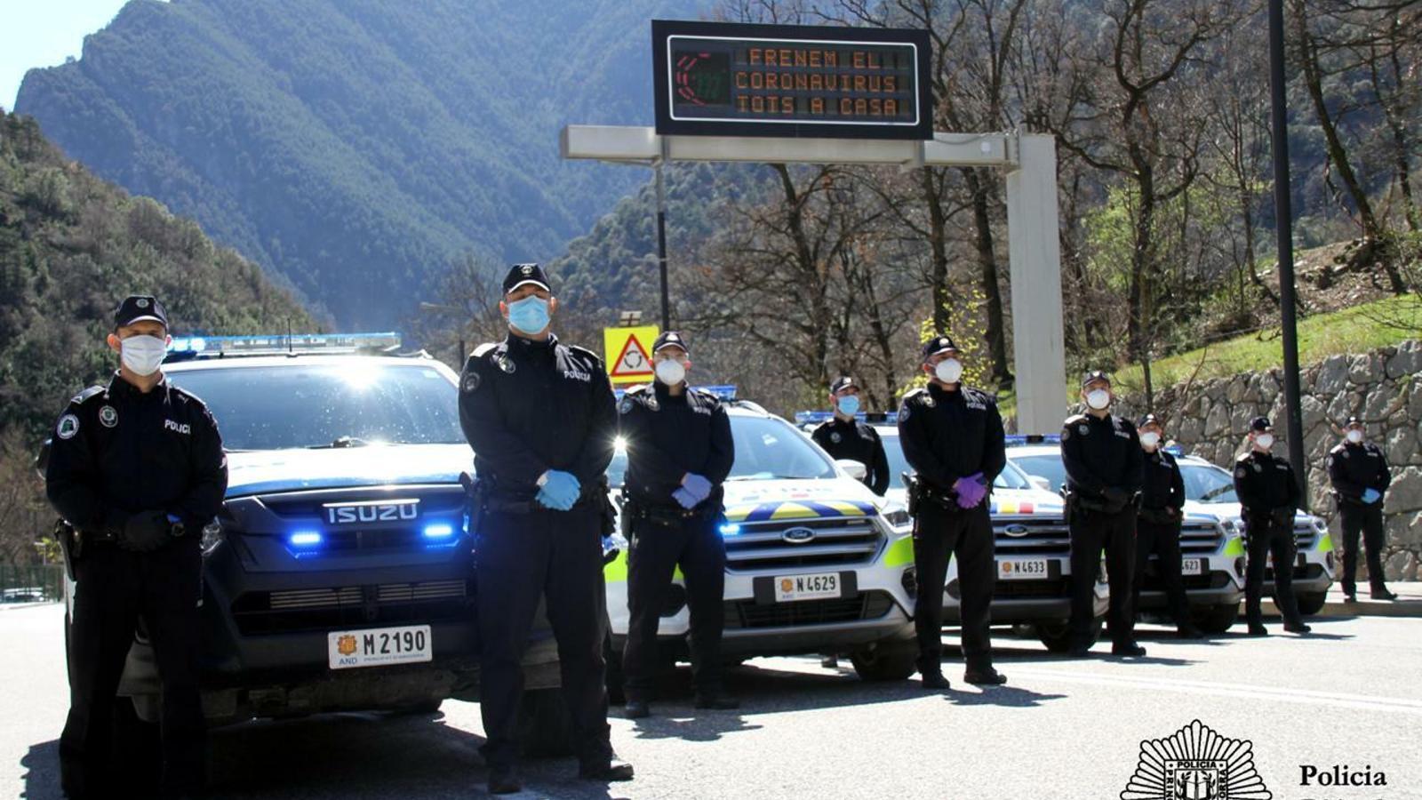 Efectius policials, aquest dissabte. / POLICIA D'ANDORRA