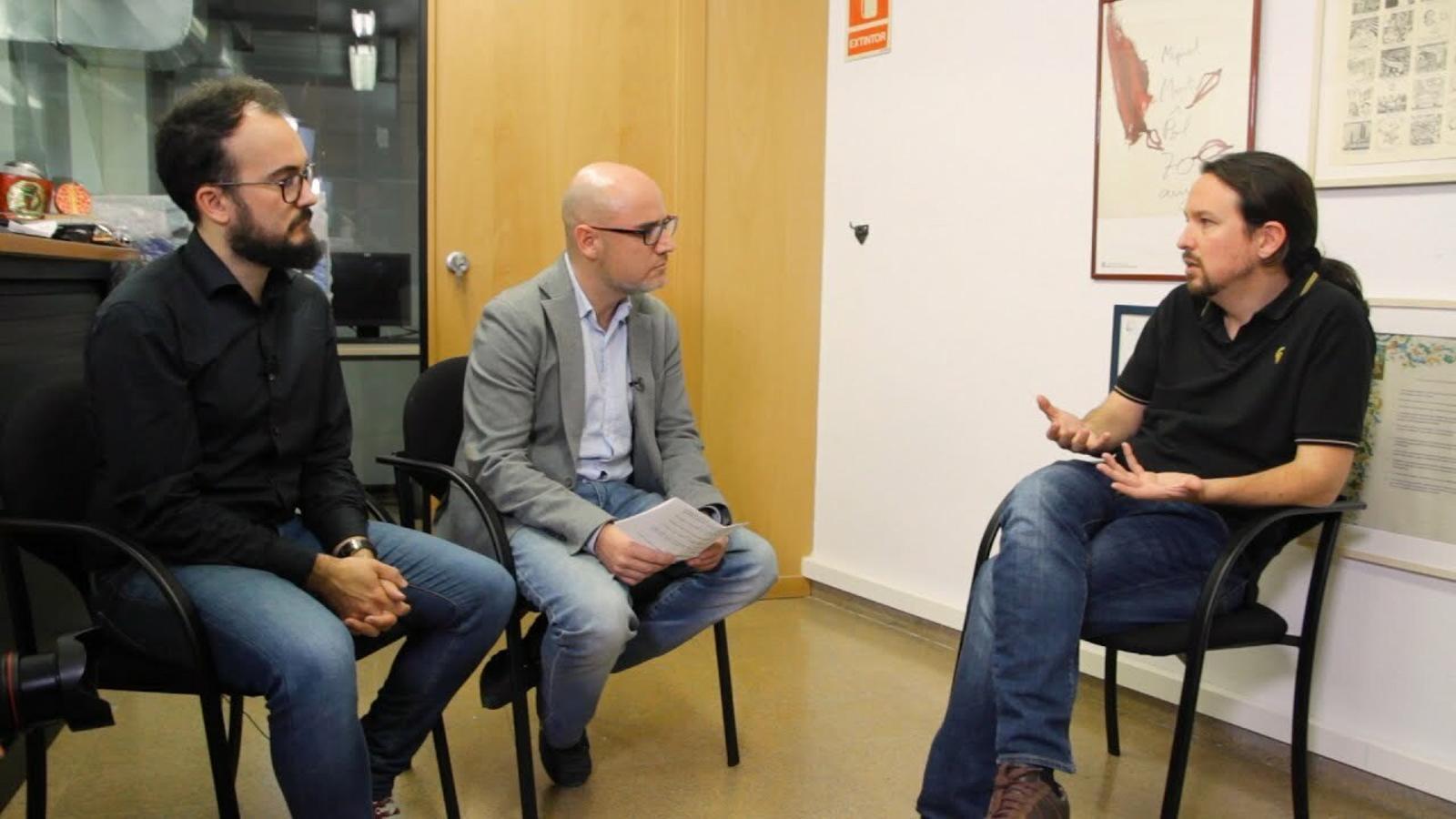 Entrevista de David Miró i Gerard Pruna a Pablo Iglesias