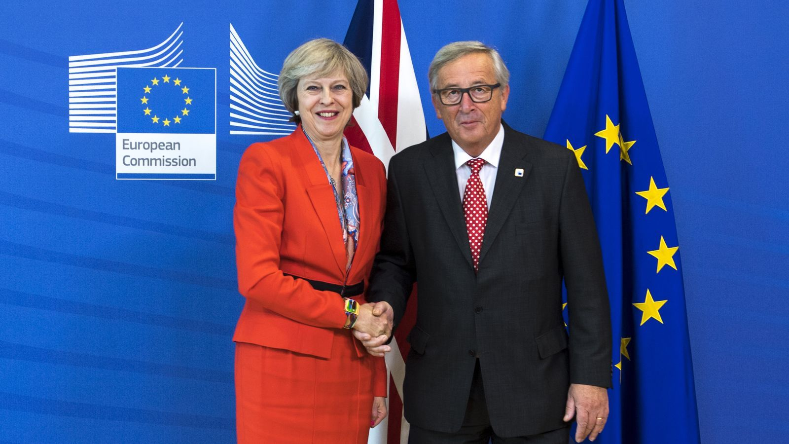 Theresa May i Jean Claude Juncker / TOM EVANS