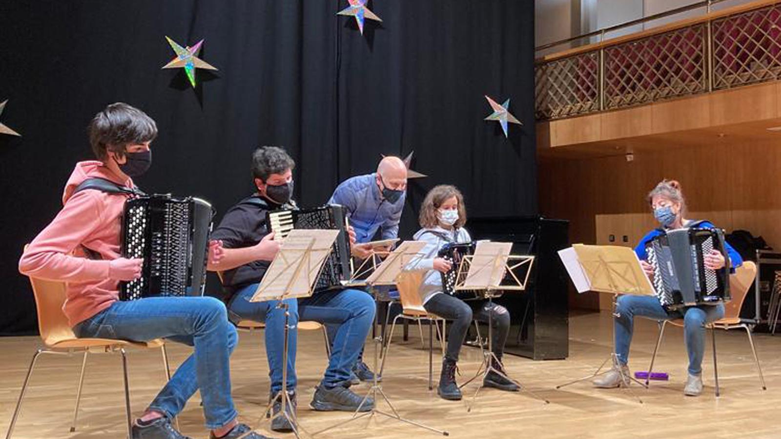 Assaig del Concert de Nadal. / FUNDACIÓ ONCA