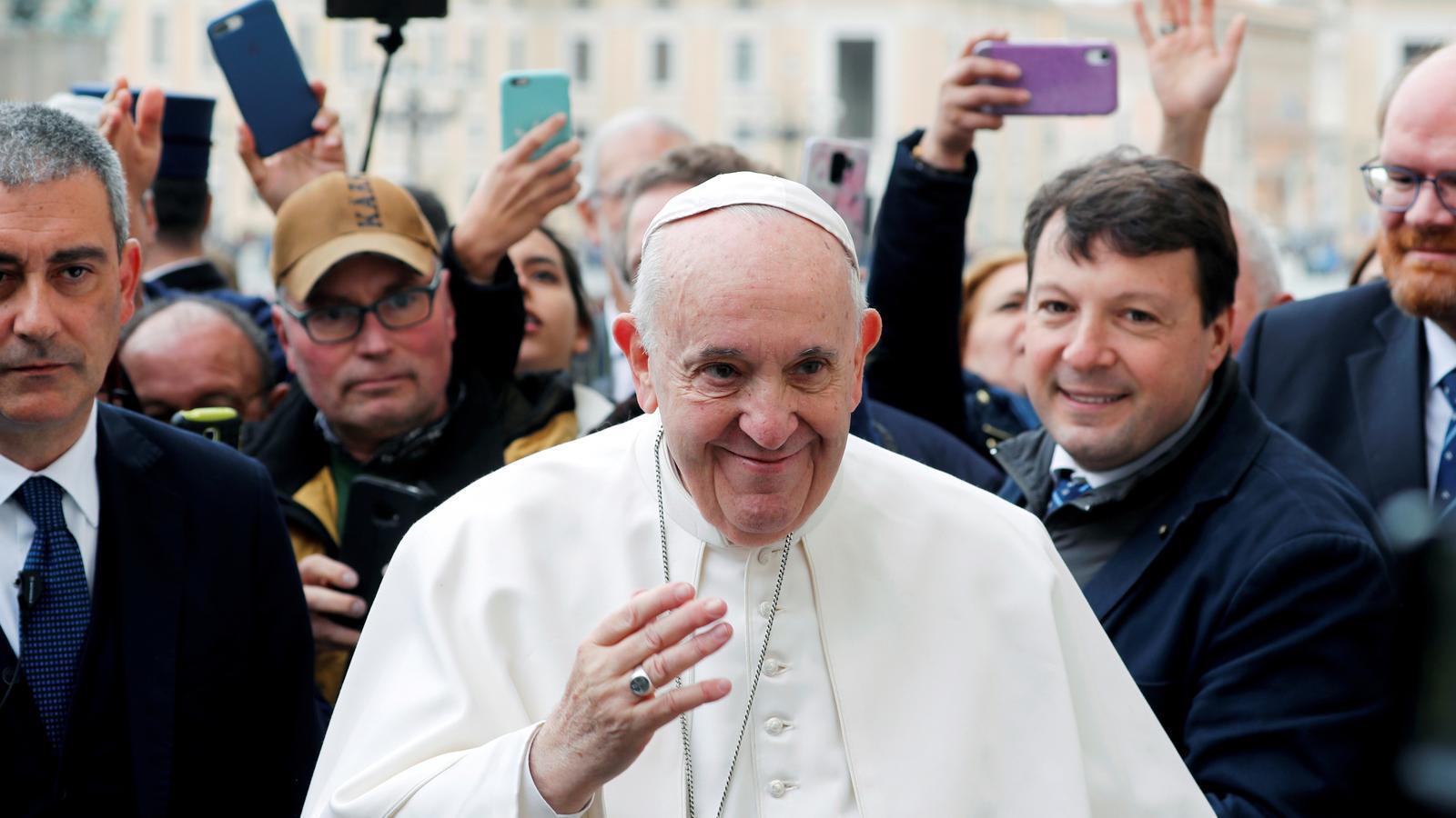 L'àngelus i l'audiència del Papa, per 'streaming' per culpa del coronavirus