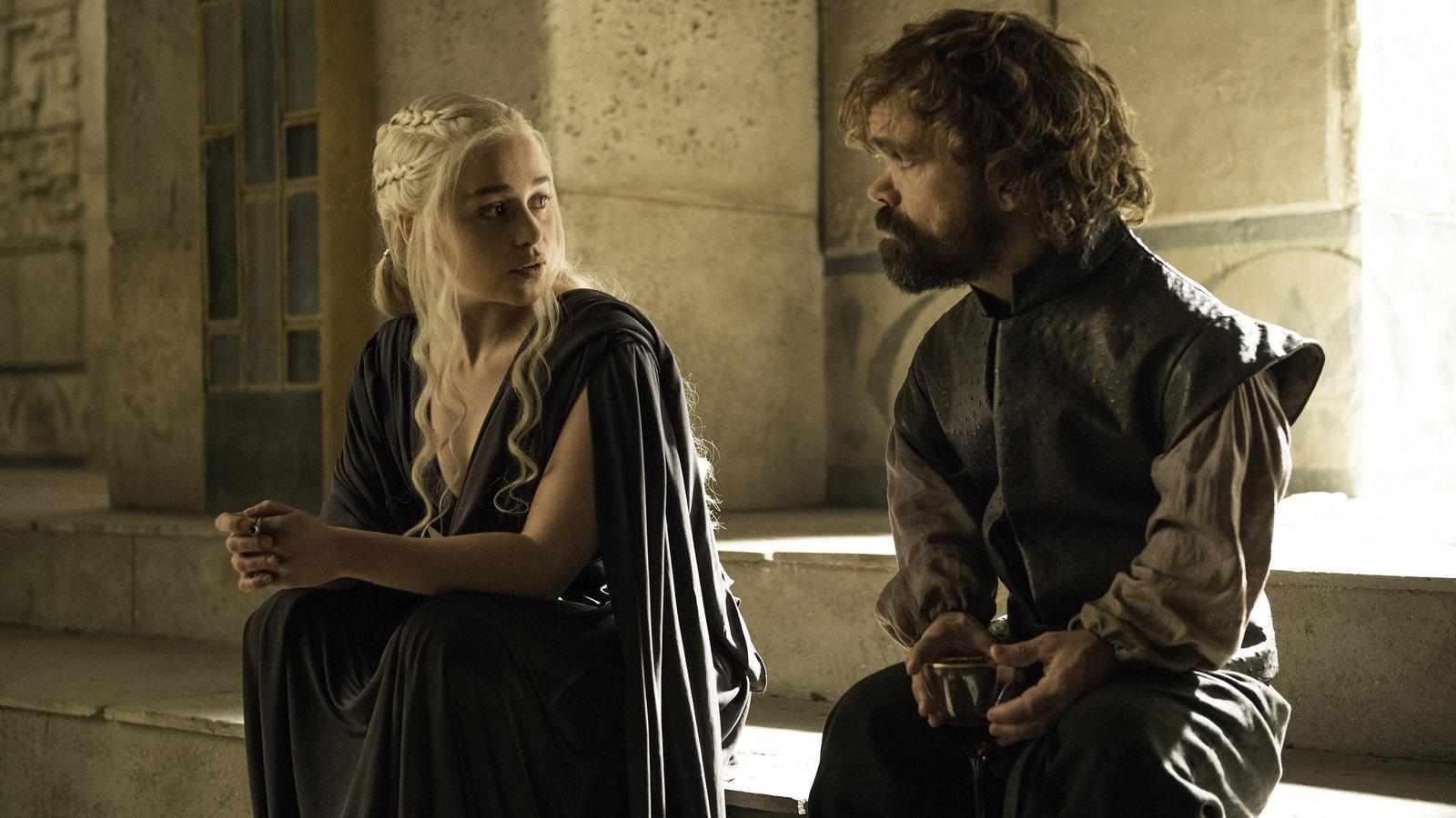 Daenerys Targaryen i Tyrion Lannister al darrer capítol de la temporada