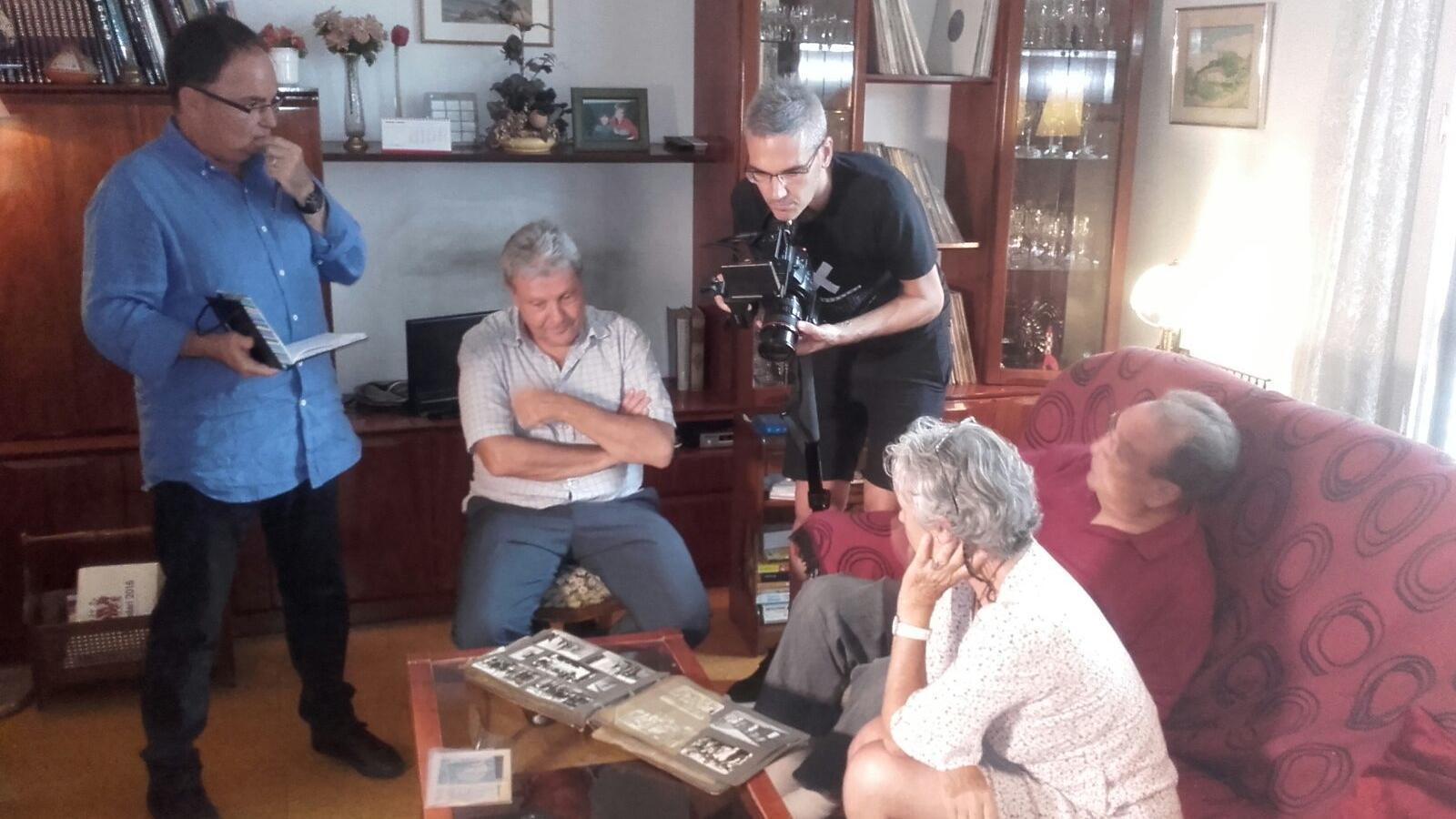 El rodatge del documental a la casa dels Gamper