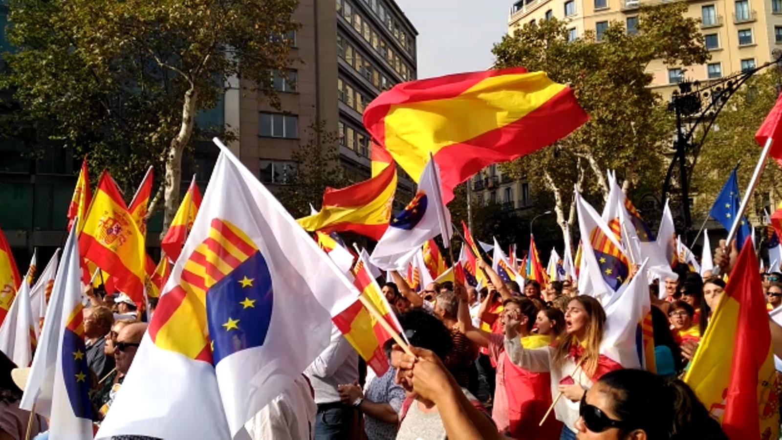 La manifestació del 12 d'octubre a Barcelona