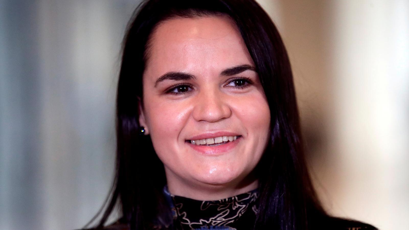 La líder opositora bielorussa Svetlana Tikhanóvskaia