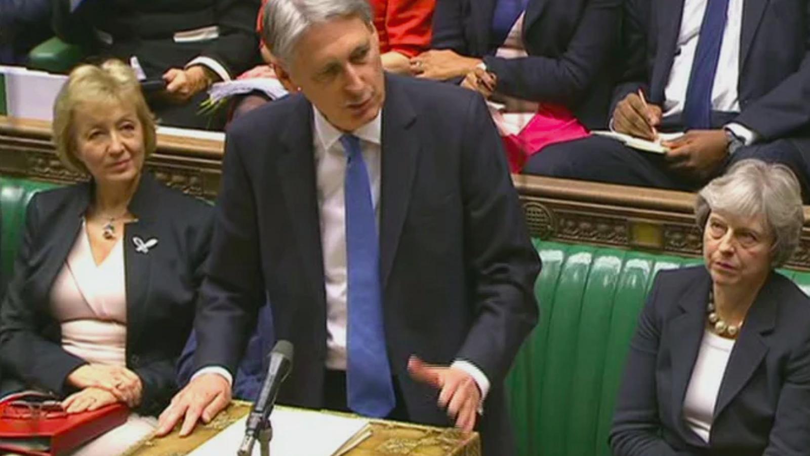 Philip Hammond, ministre britànic del Tresor, durant la presentació dels pressupostos al Parlament aquest dimecres / REUTERS