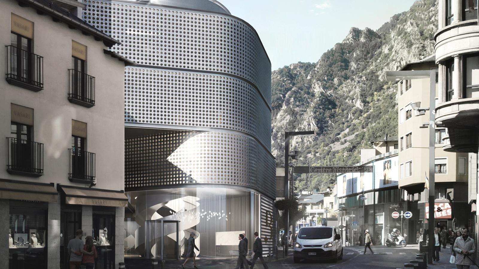 Maqueta del casino que proposa Lleure 3D. / ARXIU ANA