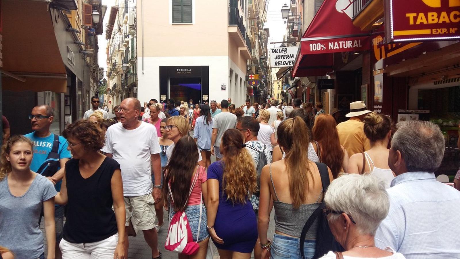 El centre de Palma, aquest dimecres passat.