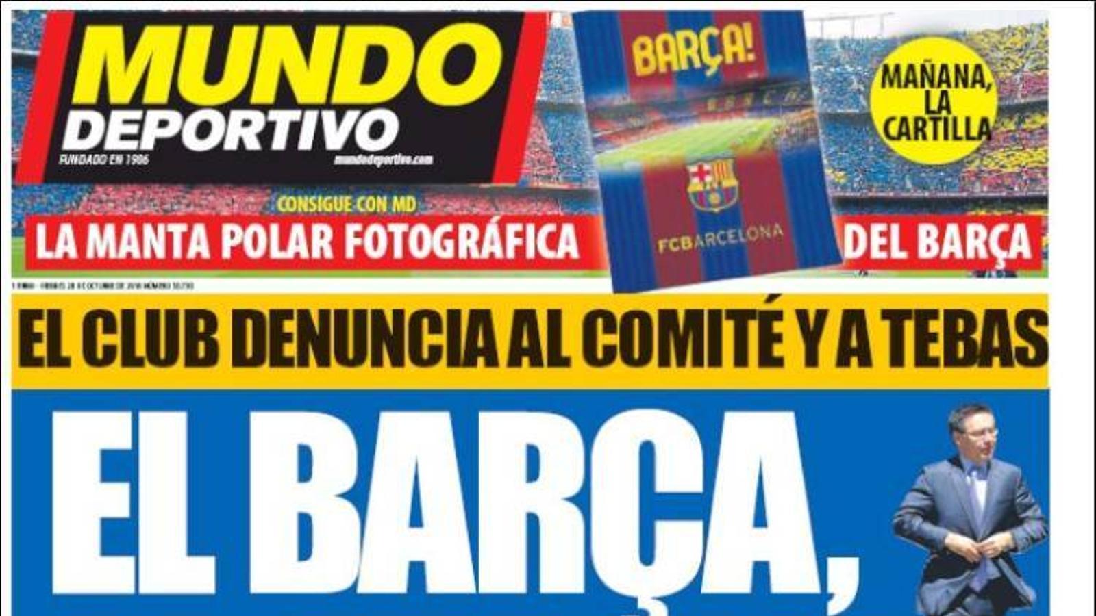Portada 28 octubre Mundo Deportivo