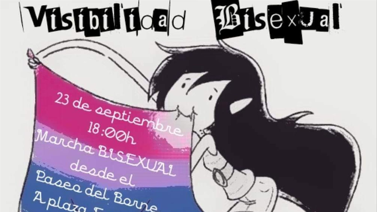 Cartell de la marxa per la visibilitat bisexual