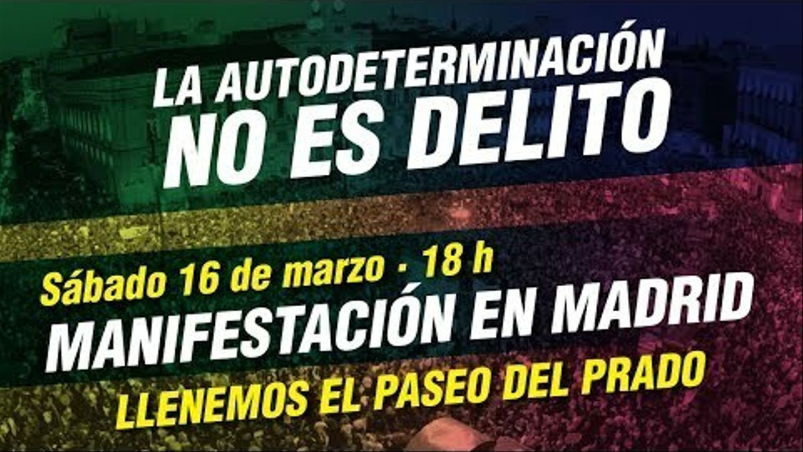La manifestació a Madrid contra el judici del Procés, en directe
