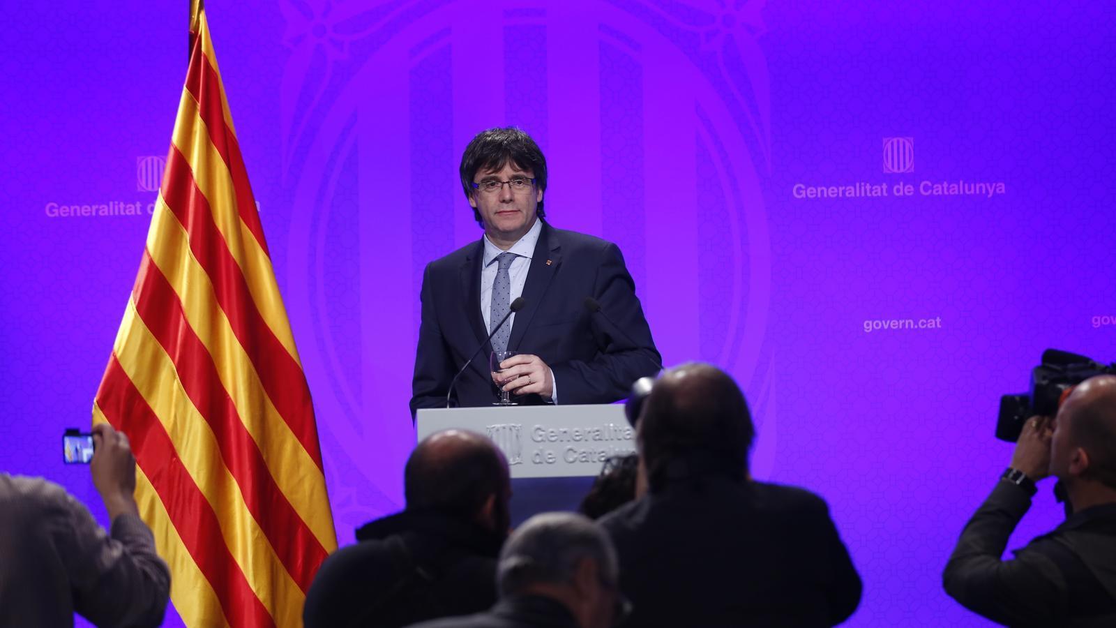 Carles Puigdemont fa balanç dels 100 dies de govern