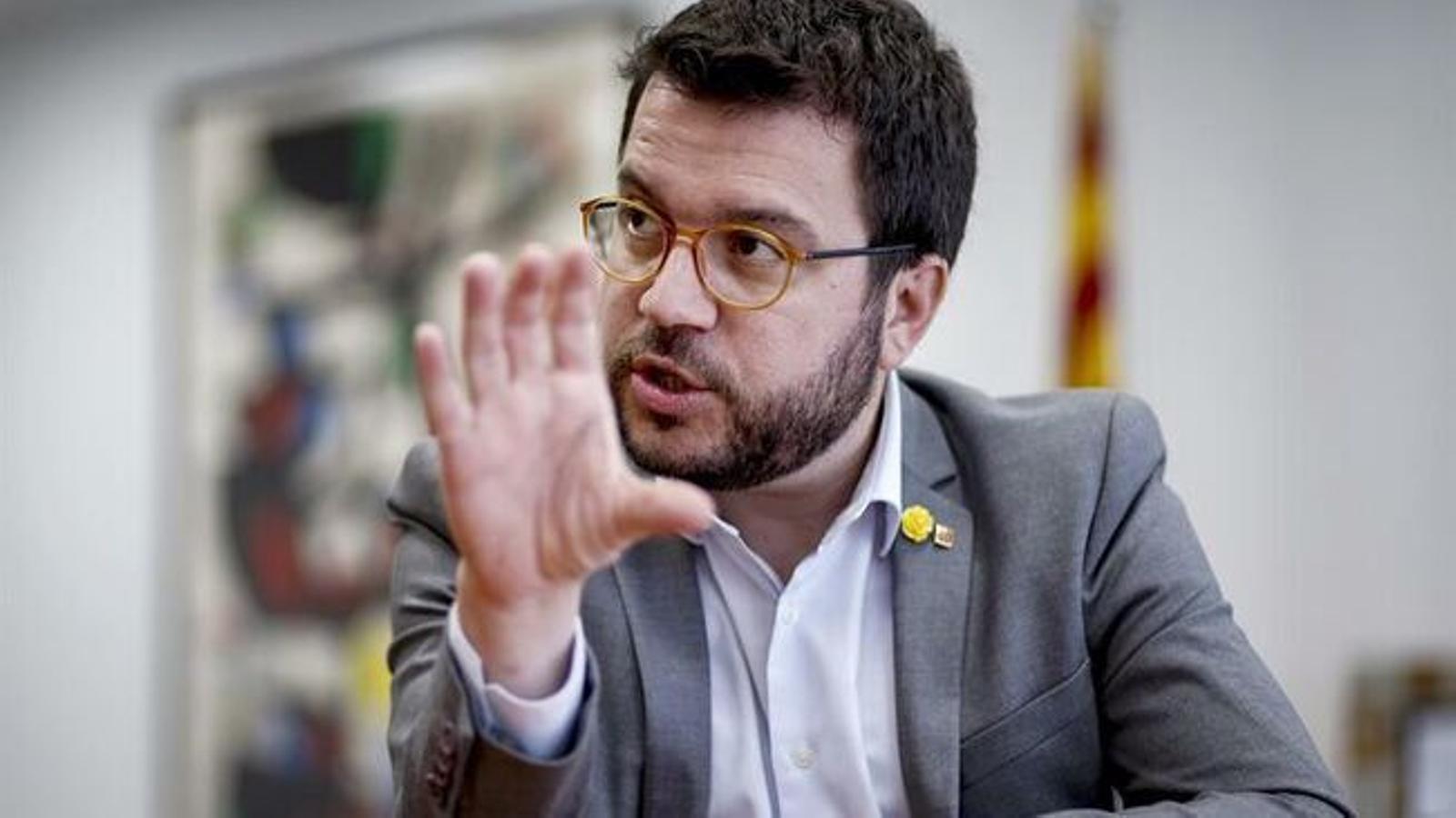 """Aragonès veu lluny un acord amb el PSOE i reclama concreció: """"A hores d'ara hauríem de votar que no"""""""