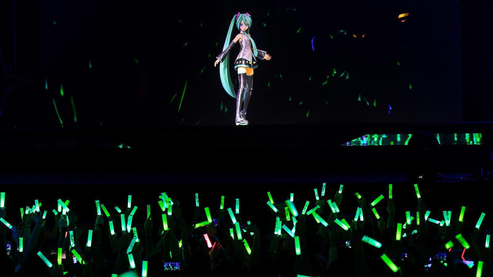 Hatsune Miko en un concert a París