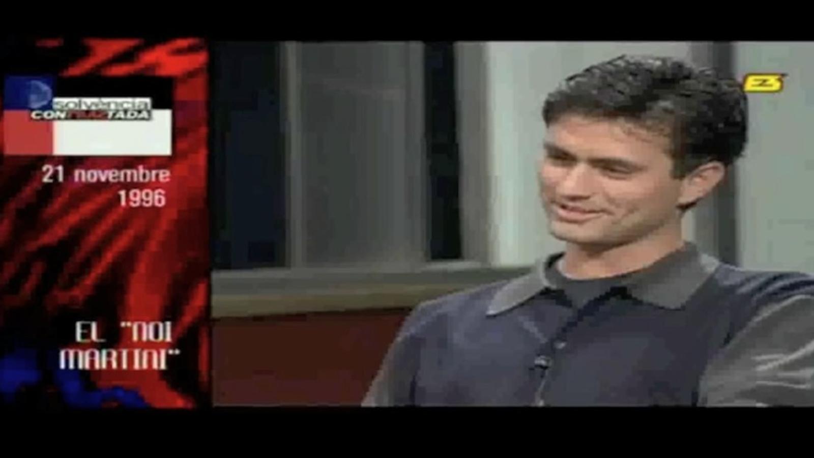Quan Mourinho entenia el català, l'any 1996 a TV3