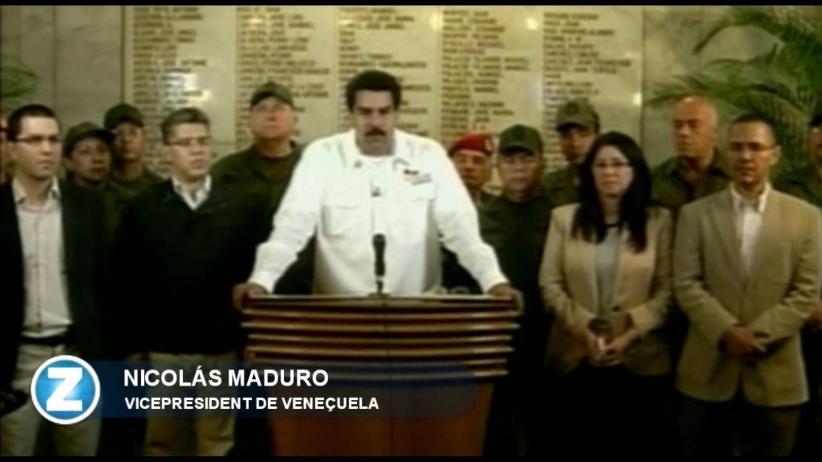 L'anunci oficial de la mort de Chávez a la televisió veneçolana