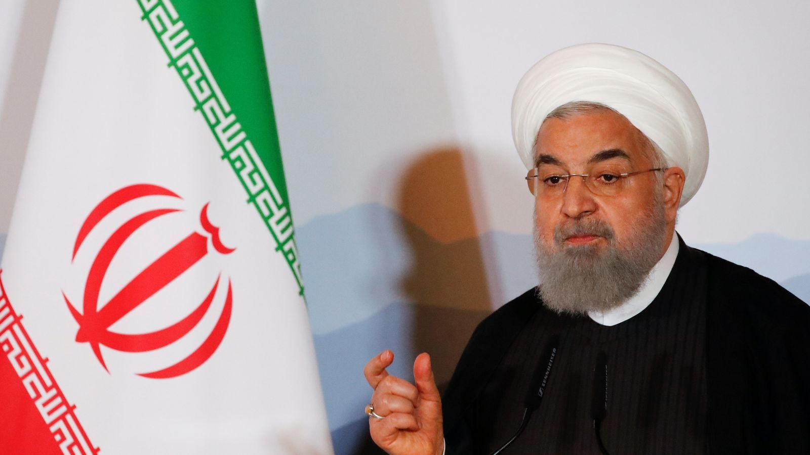 El president iranià, Hassan Rouhani, durant una visita oficial a Suïssa.