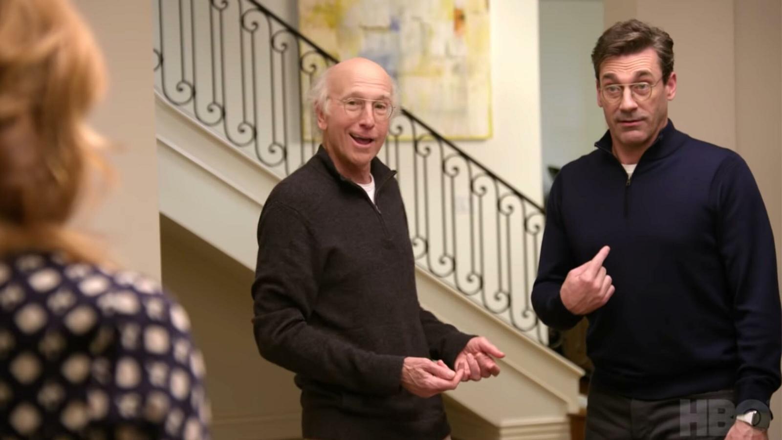 Larry David i Jon Hamm en una escena de la sèrie 'Larry David'