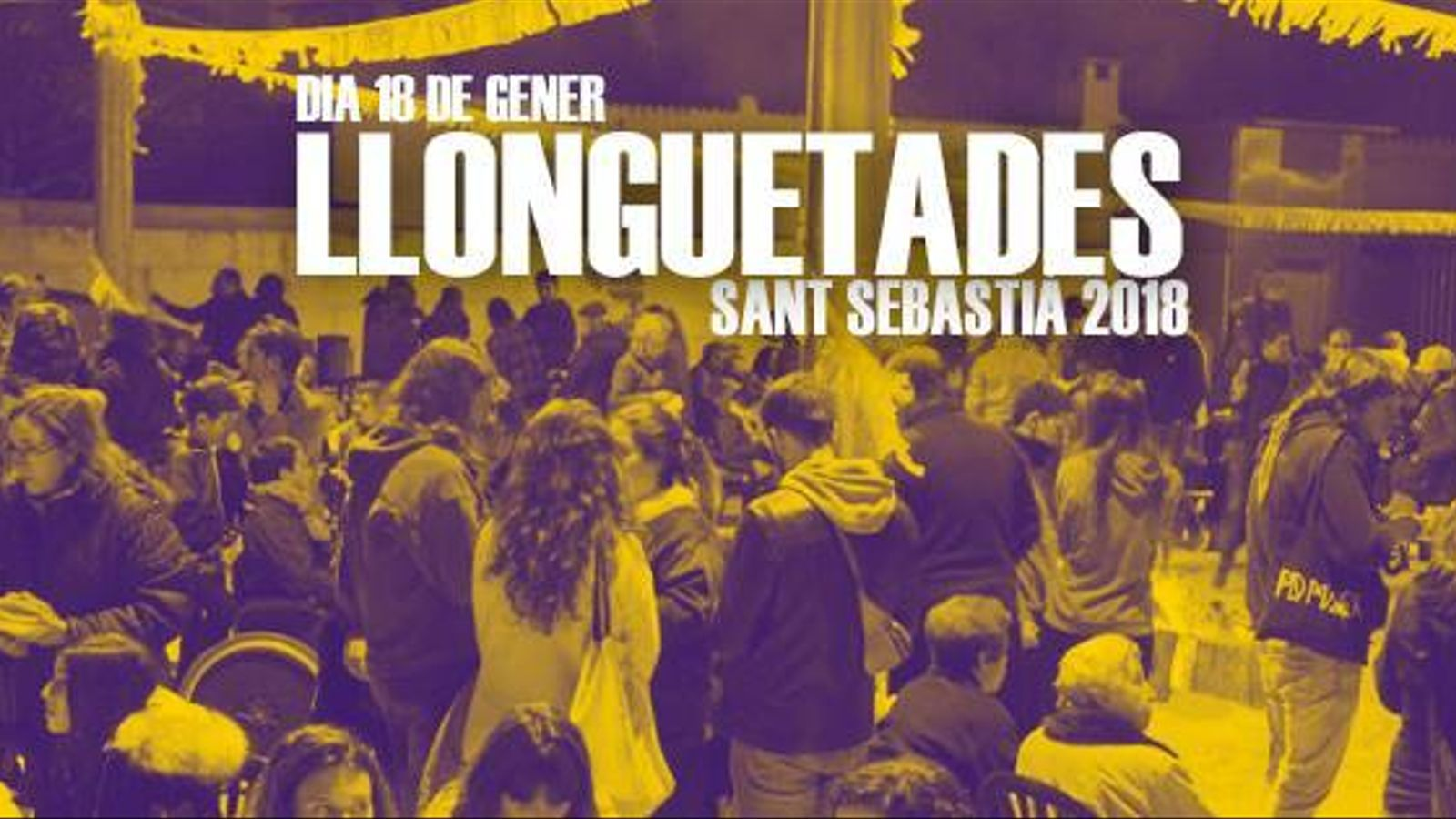 Cartell de les Llonguetades de Sant Sebastià 2018.